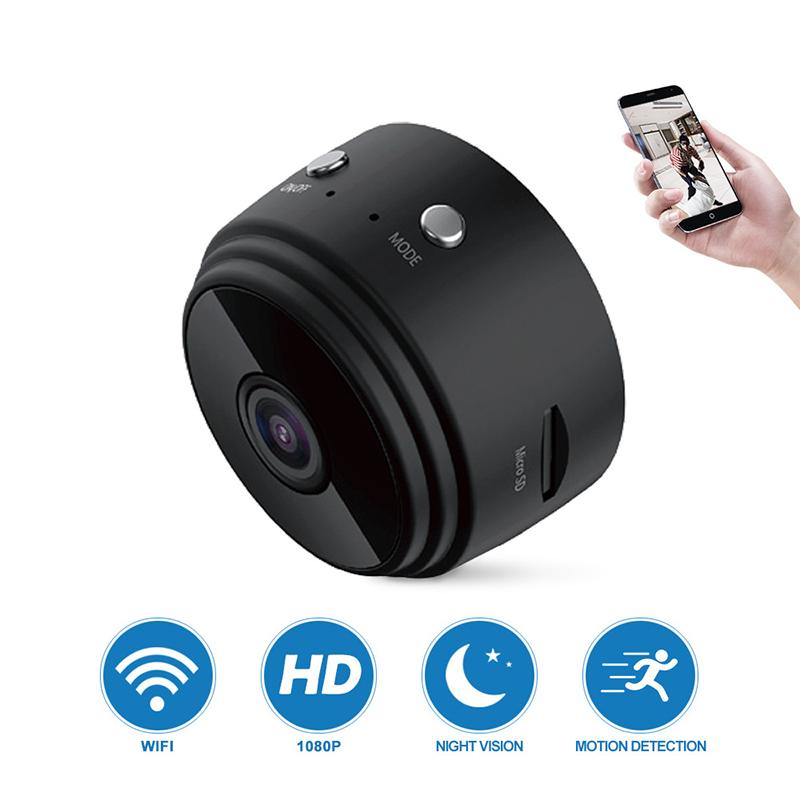 A9 Mini  Camera 1080p Ip Night Version Micro Magnet Smart Wifi Camera Host + data cable (PE bag)