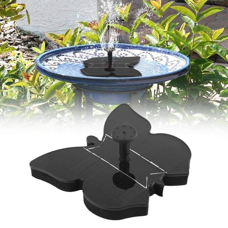 Sprinkler Crystal Silicon Garden Pool Landscape Decoration Solar Fountain Pump 16x14.6cm