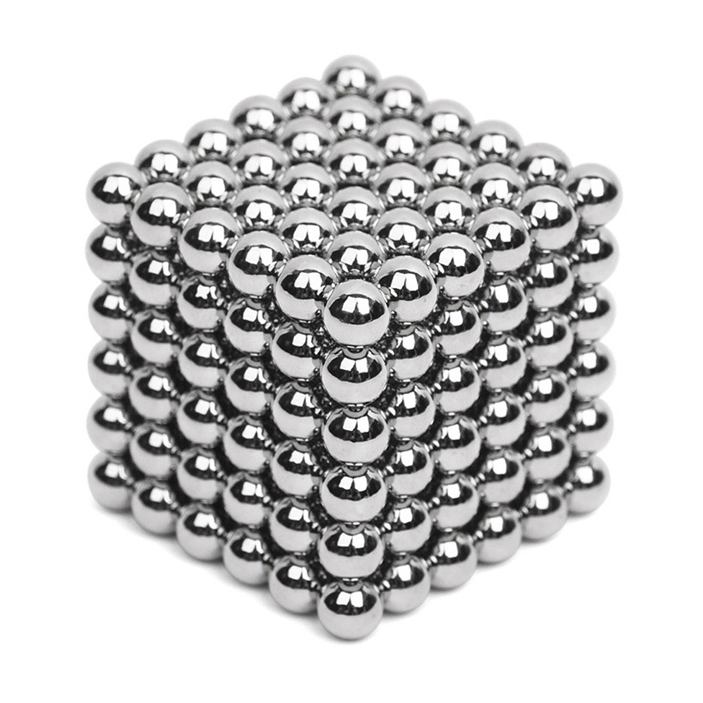 216Pcs 5mm DIY Magic Magnet Magnetic Blocks Balls Sphere Cube Beads Puzzle Building Toys Stress Reliever Silver