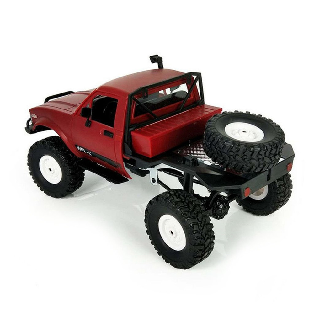 WPL C14 1:16 2CH 4WD Children RC Truck 2.4G Off-Road Car Electric RC Truck 15km/H Top Speed RTR/KIT Mini Racing Car Toy red_KIT
