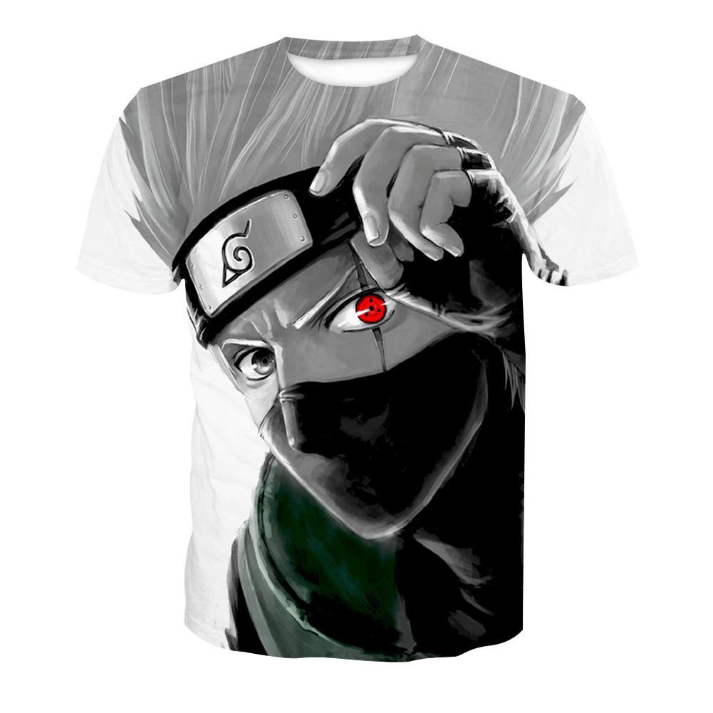 Unisex Cool 3D Digital Cartoon Printing Round Collar Cool T-shirt as shown_XXL