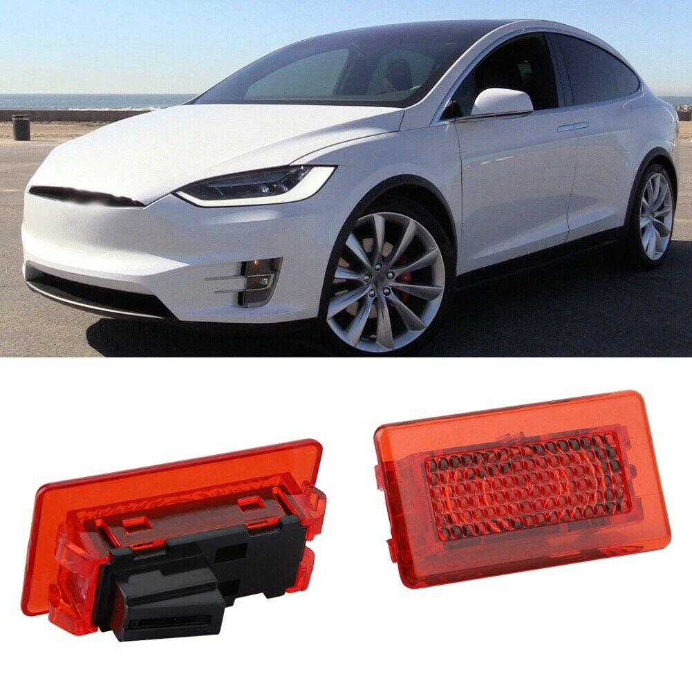 1 Pair Car Door Anti-collid LED Opened Lamp Warning Light for Tesla Model X Or S