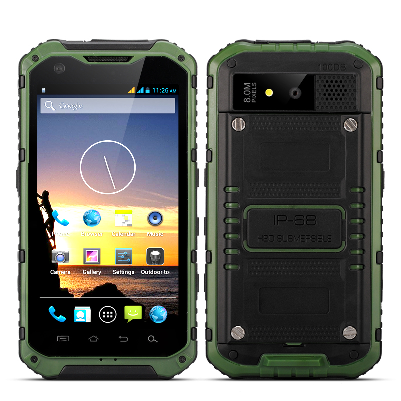 Android Quad Core Rugged Phone - Ox (Green)