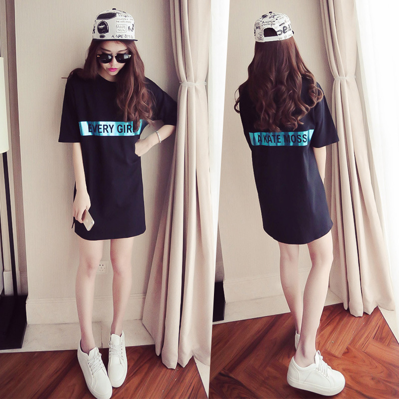 Women Round-neck Short Sleeve Fashion Dress