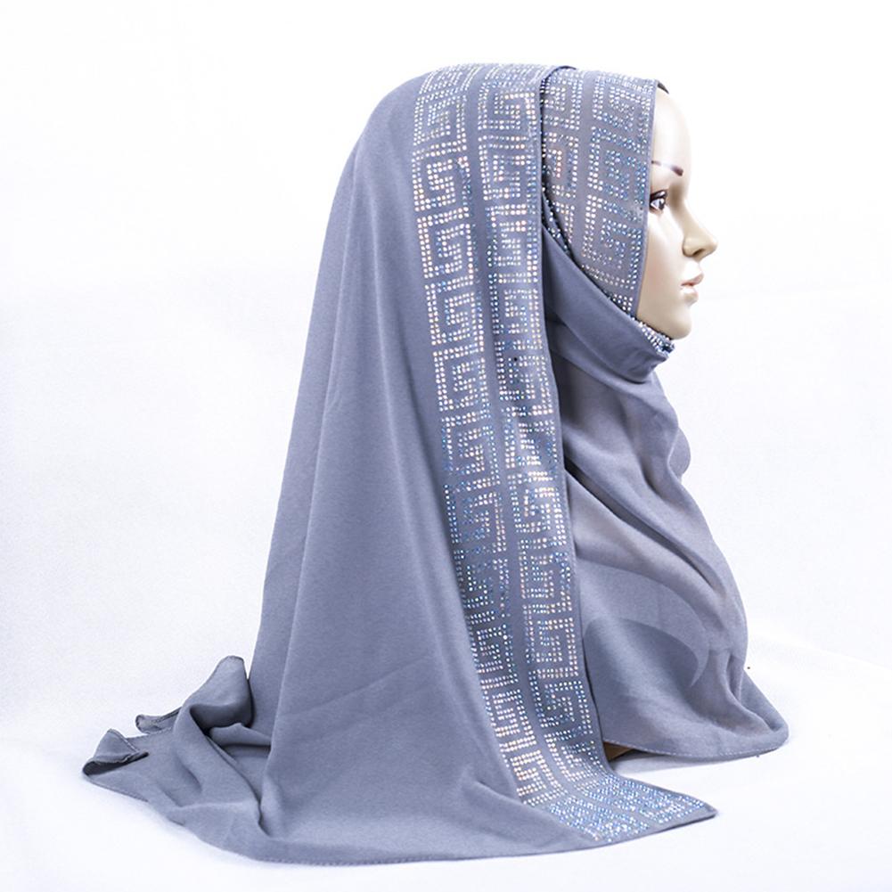 Women Stylish Muslim Headscarf with Double Sided Pattern Design