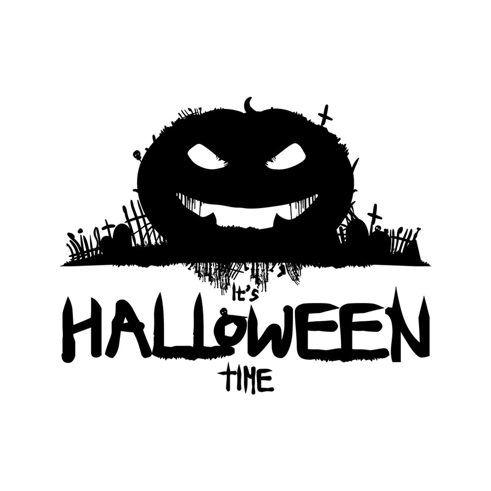 Halloween English Wall Sticker DIY Room Wall Decals Home Party Decor AFH2101