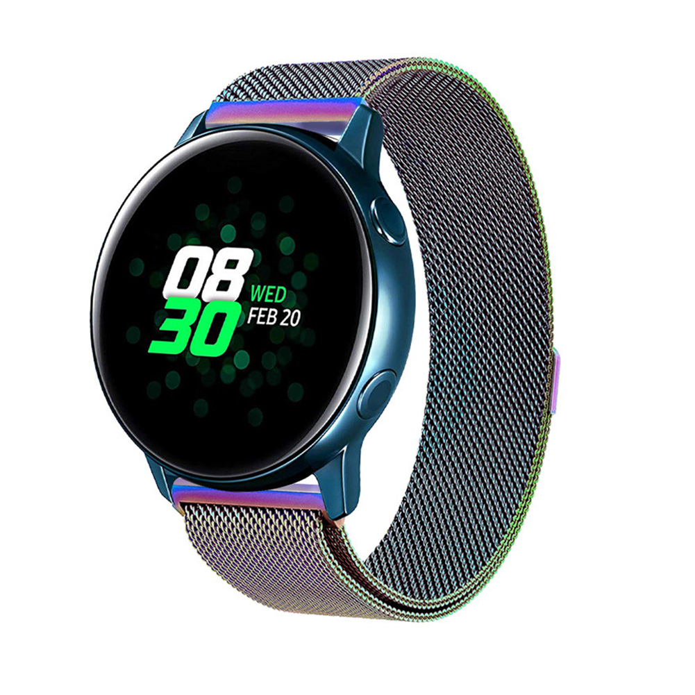 For Samsung Galaxy Watch Active 20mm Replacement Stainless Steel Watch Band Strap Colorful