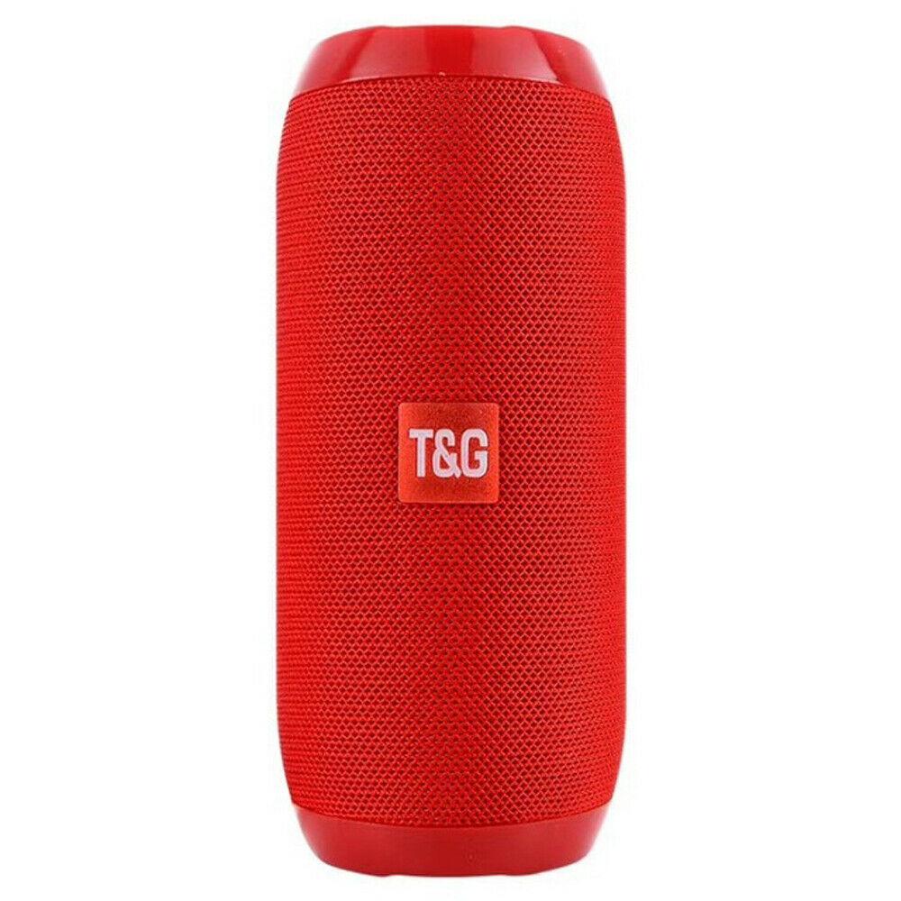 Loud Bluetooth Speaker Wireless Waterproof Outdoor Stereo Bass USB/TF/FM Radio red