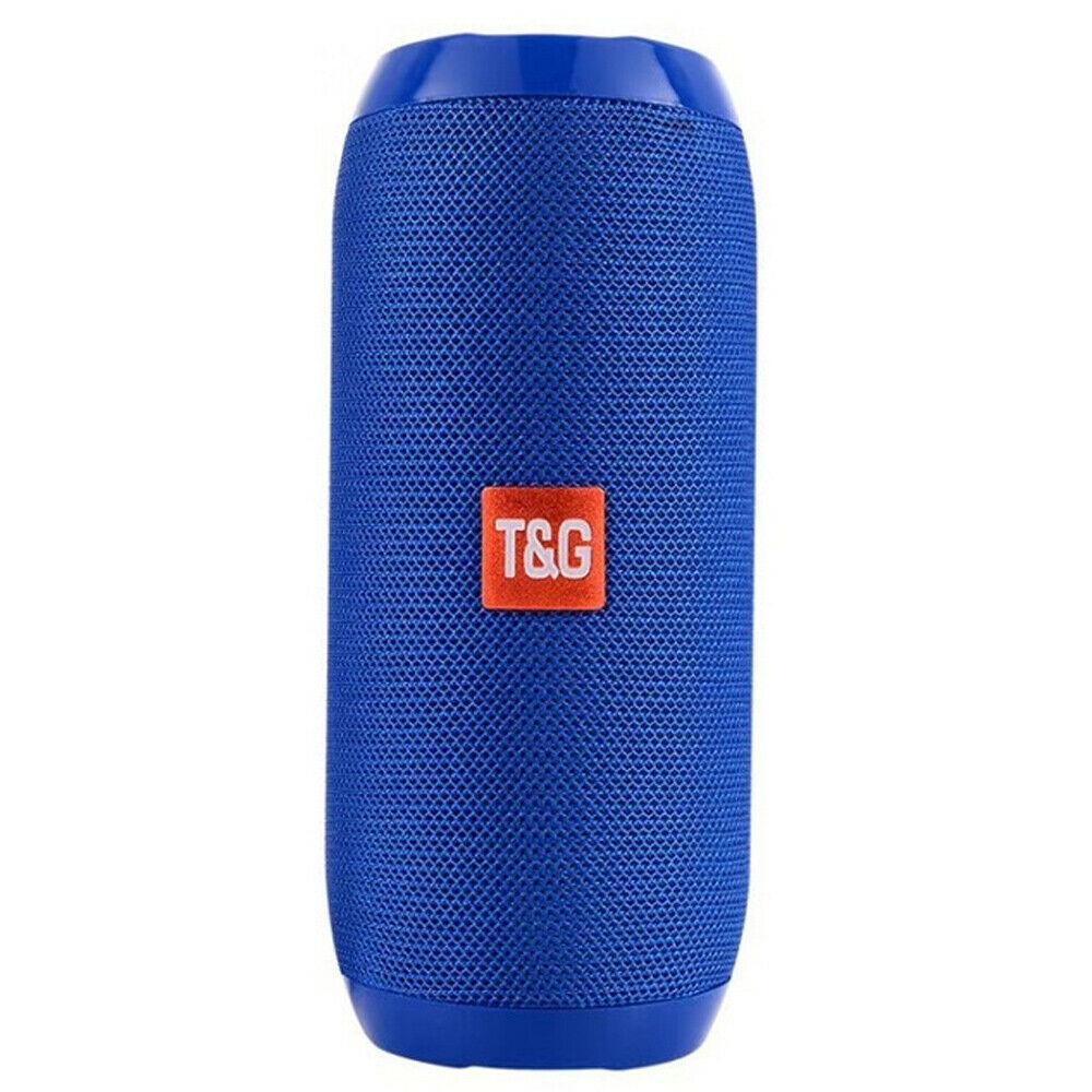 Loud Bluetooth Speaker Wireless Waterproof Outdoor Stereo Bass USB/TF/FM Radio blue