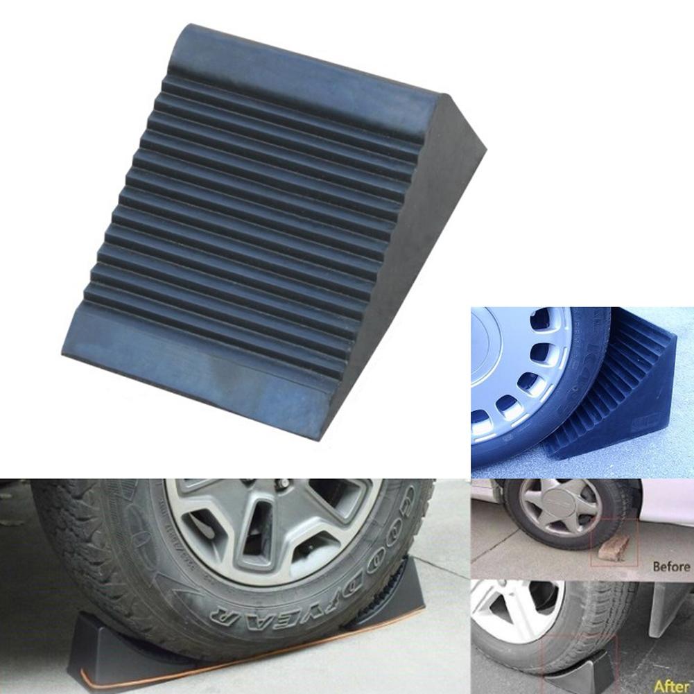 2pcs Wheel Chocks Stop Tire RV Camper Trailer Car Truck Stopper Block black