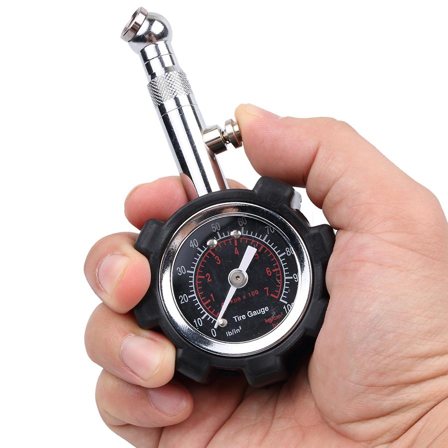 High Precision Car Tire Pressure Monitor Pneumatic Tire Pressure Gauge Universal Use black