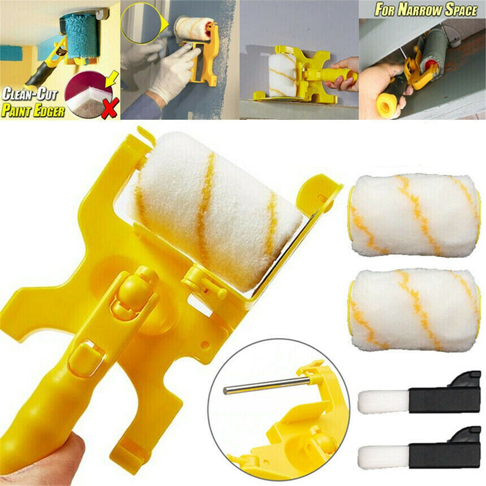 Multifunctional Cleaning Cutting Paint Trimming Machine Roller  Brush Safety Tool 1 shelf + 2 brushes + 2 rollers