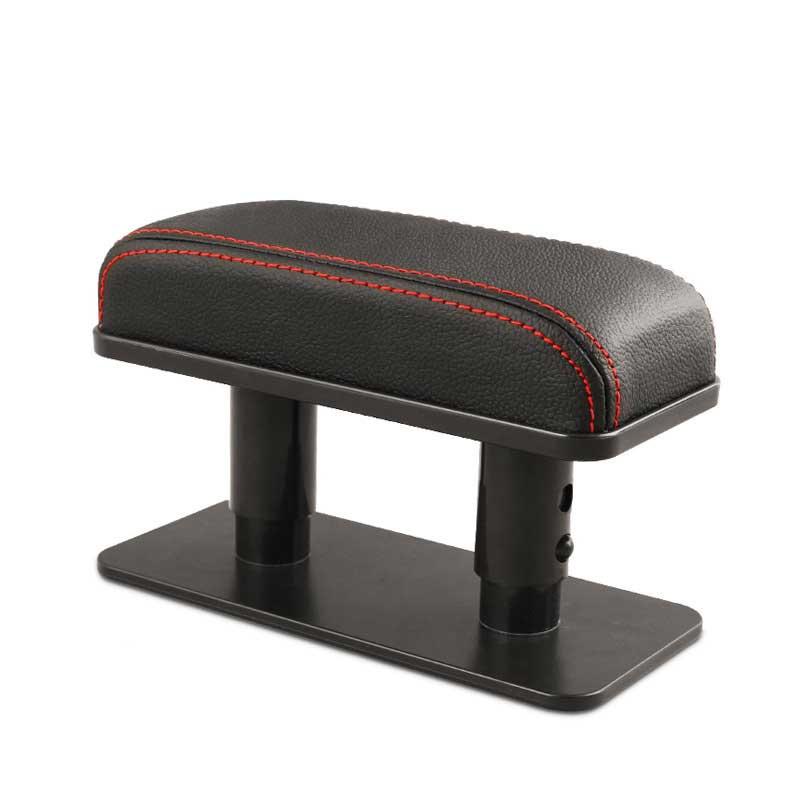 Car Armrest Cushion Anti-Fatigue Elbow Support Door Armrest Pad Protective Pad for Left Armrest Arm for Main Driver Position Black red line