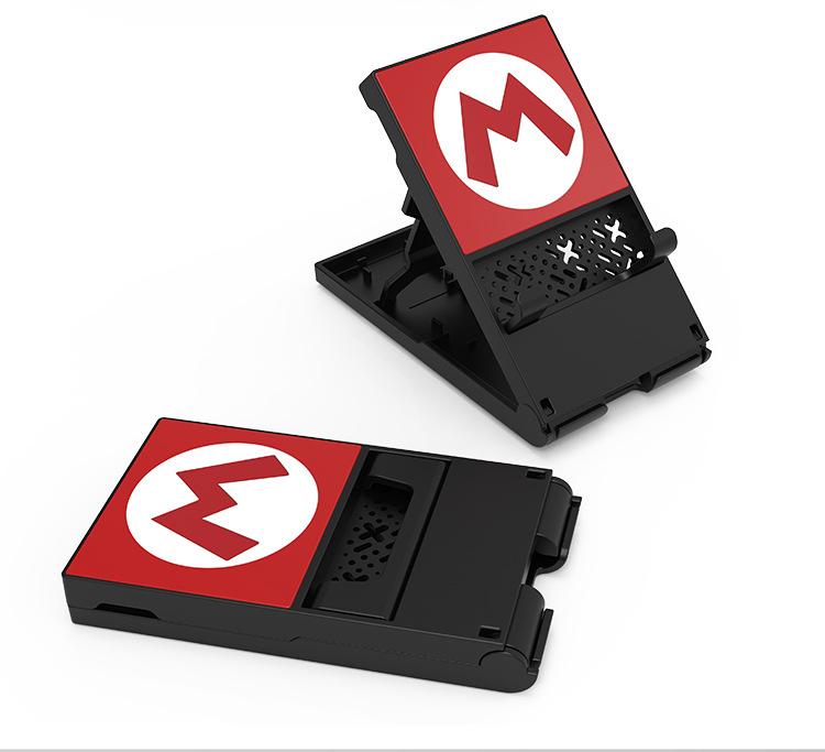 Portable Folding Stand Storage Bracket Holder for Nintendo Switch Lite  Black M