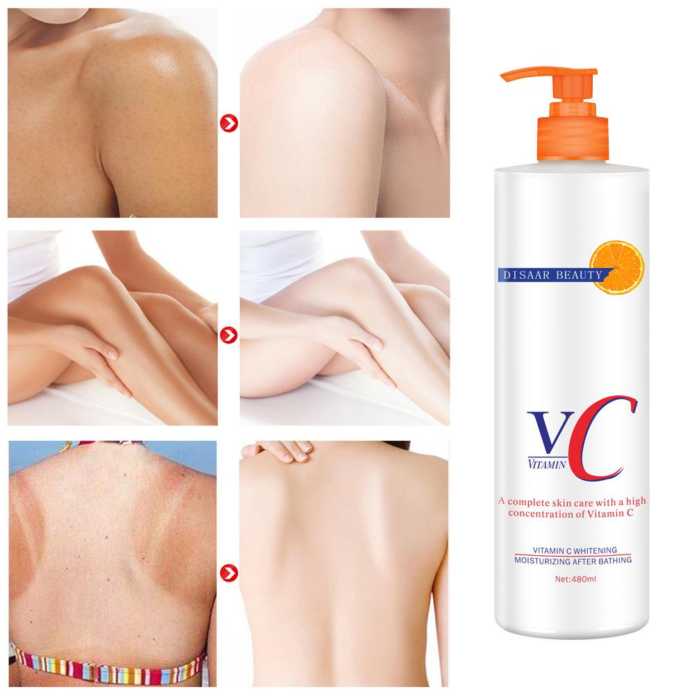 Vitamin  C  Body  Cream Skin Whitening Moisturizing Brightening Lotion Skin Care 480ml