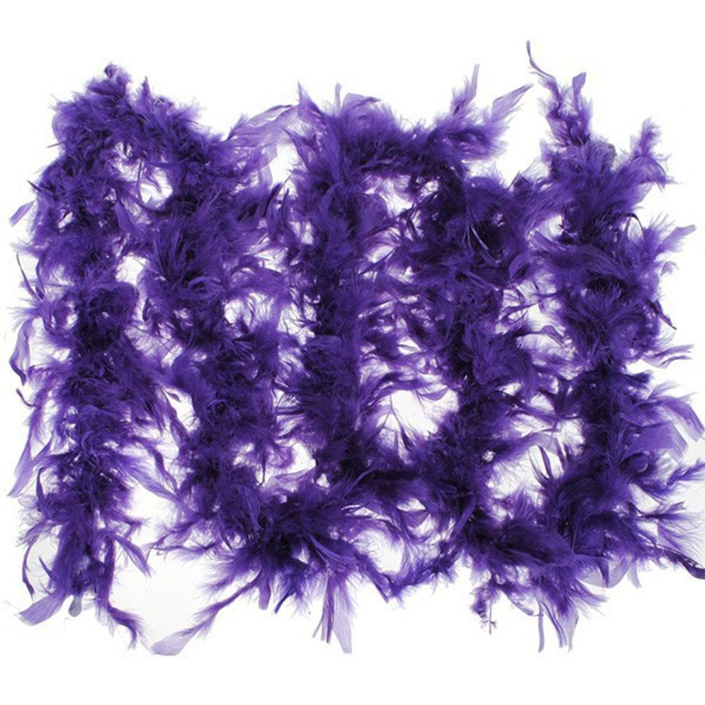 1Pcs 37g 2yards Turkey Feather Strip Wedding Marabou Feather Boa Burlesque Fancy Dress Party Decoration Dark purple