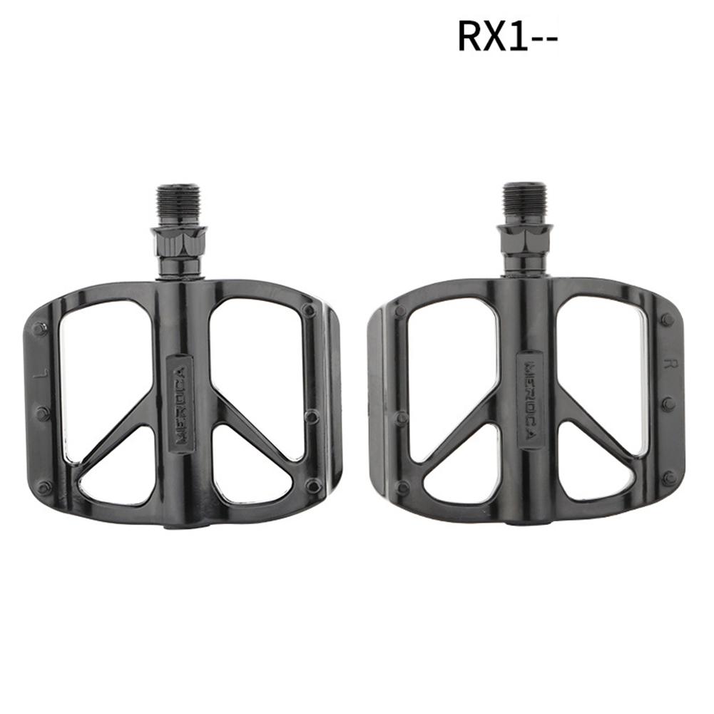 1 Pair Bicycle  Pedals Mountain Bike Folding Bikes Cycling DU/bearing Pedals RX1 (dual DU)_Black