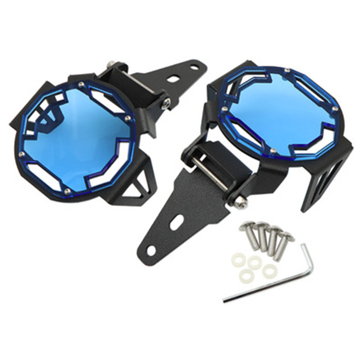 1 Pair Fog Lamp Protective Cover Mesh Lamp Cover Can Flipped For R1200GS F800GS R1250GS F850GS F750GS Blue