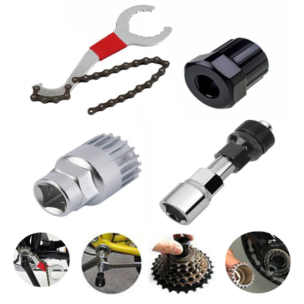 [Indonesia Direct] Generic Bicycle Crank Chain Axis Extractor Removal Repair Tool Kit  set
