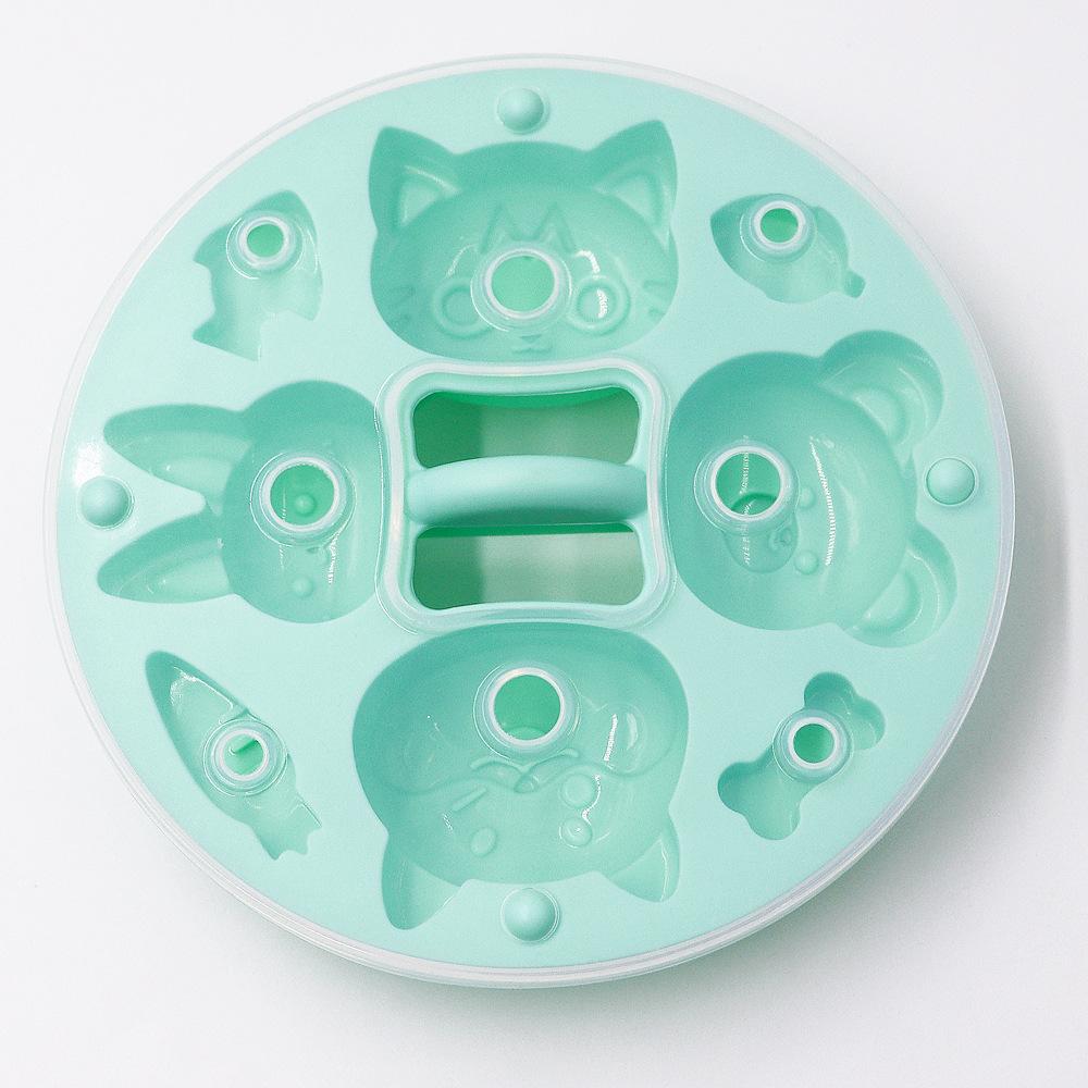 Silicone  Round Cartoon Pattern Rice  Cake  Mold Kitchen Baking Accessories Green