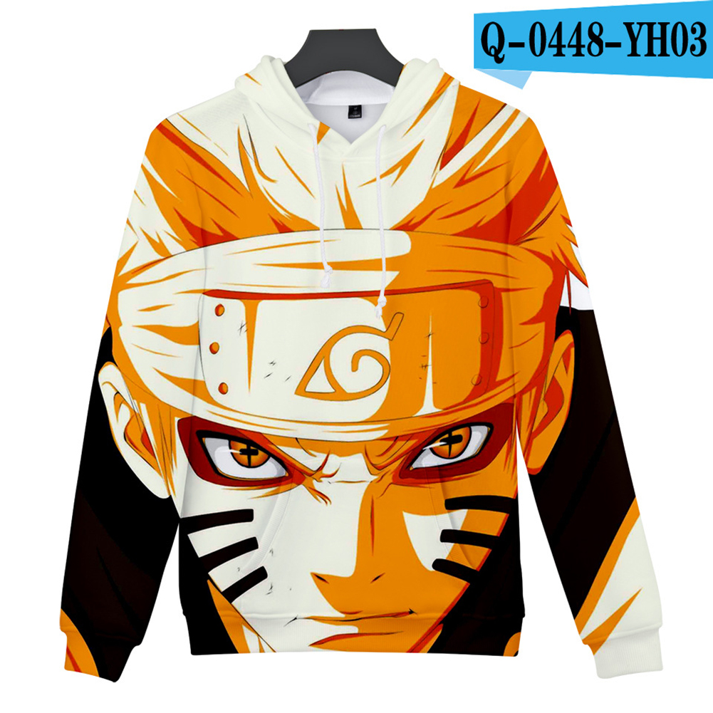 Men Women 3D Naruto Series Digital Printing Loose Hooded Sweatshirt Q-0448-YH03 G_M