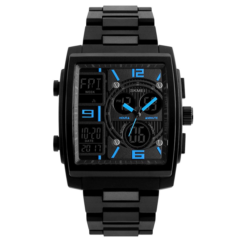 1274 Men's Wrist Watch Multi-function Outdoor Sports Digital Watch blue
