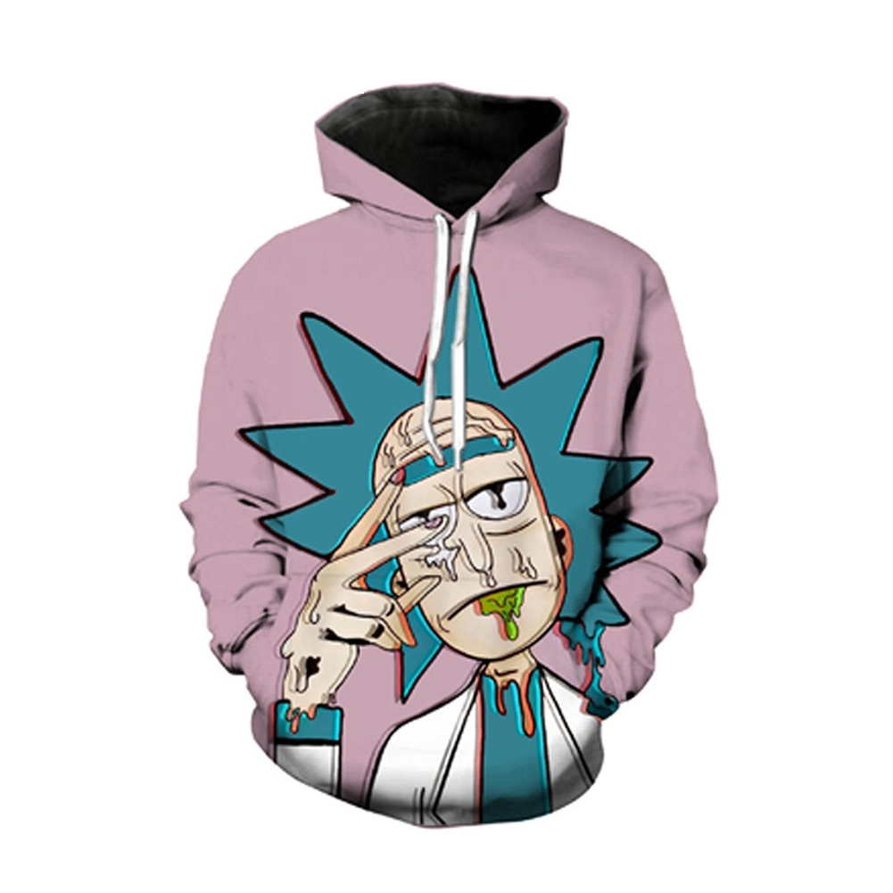 Sports Large Size Hoodie for Women Men Spoof Doctor 3D Printing Long Sleeve Hoodie Fleece purple_L