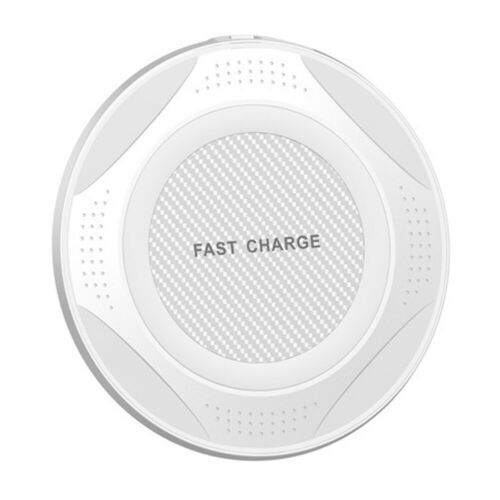 QI 10W Fast Wireless Charger Charging Pad for Huawei P30/Mate 20 Pro Samsung S10 white