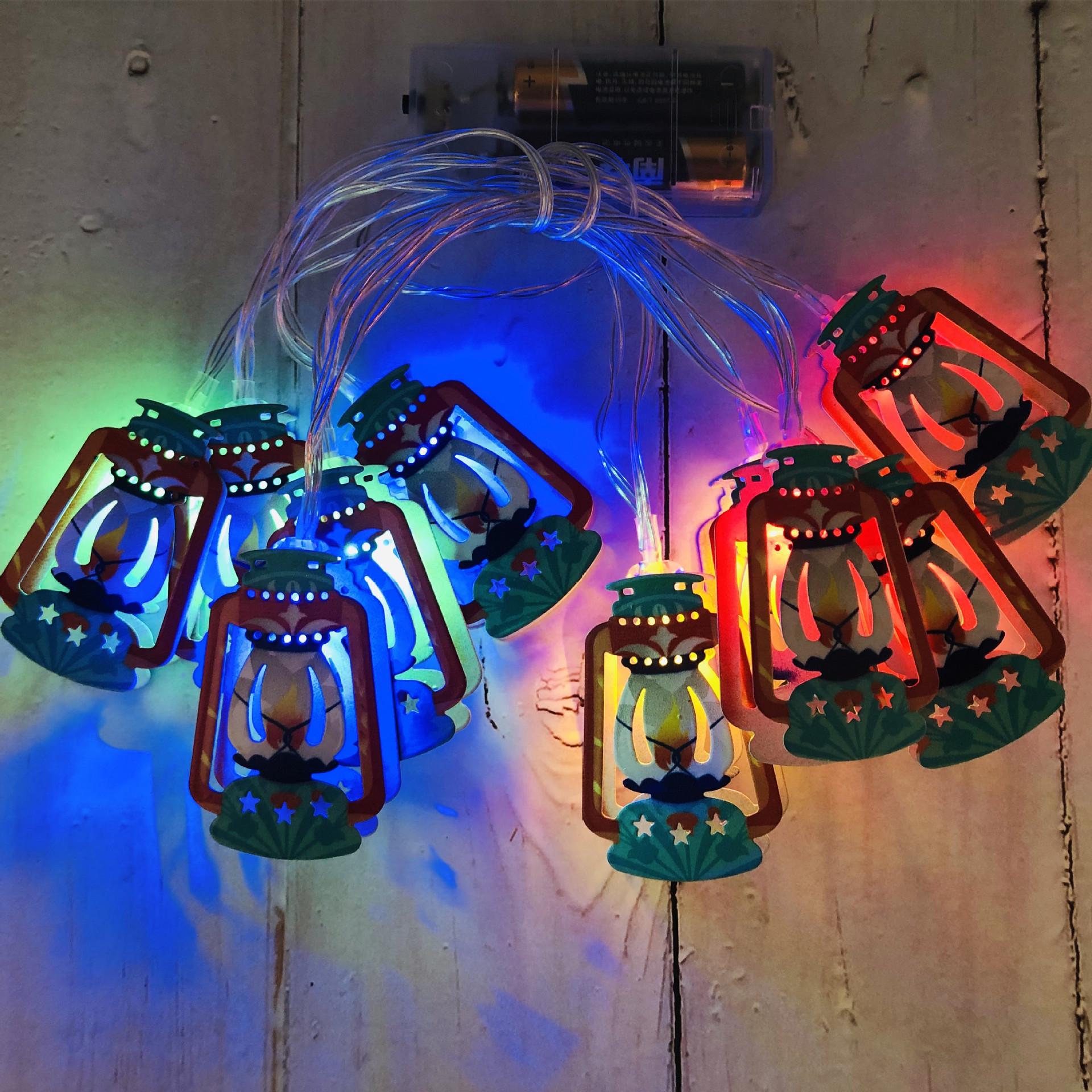 Led Iron Art String Light Arabic Lantern for Ramadan Decoration  color