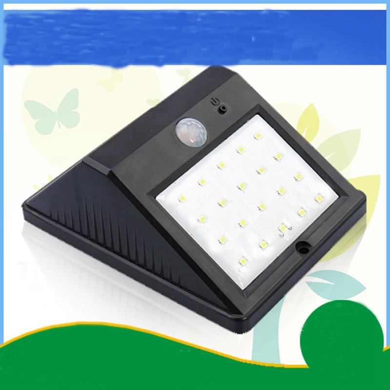 [EU Direct] 20LED Solar Panel Powered Motion Sensor Lamp Outdoor Light Garden Security Wall Light for Patio, Deck, Yard