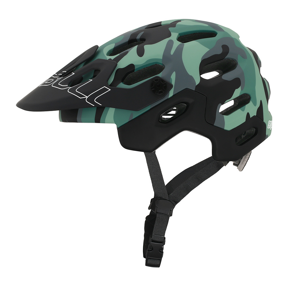 crash helmet MTB Road Cycling Helmet Ultralight Breathable Bike Riding Helmet Head Adjustable Visor Helmet Camouflage_M (54-58CM)