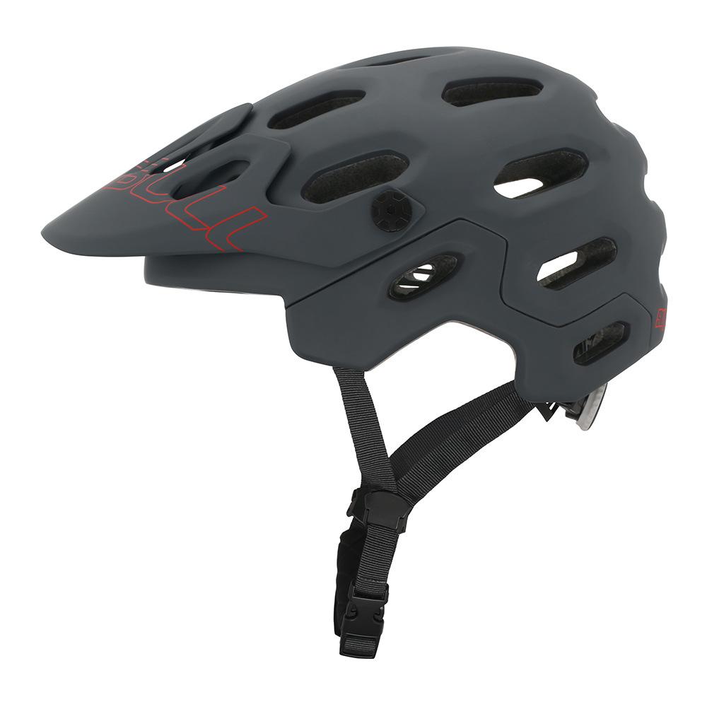 crash helmet MTB Road Cycling Helmet Ultralight Breathable Bike Riding Helmet Head Adjustable Visor Helmet gray_L (58-62CM)