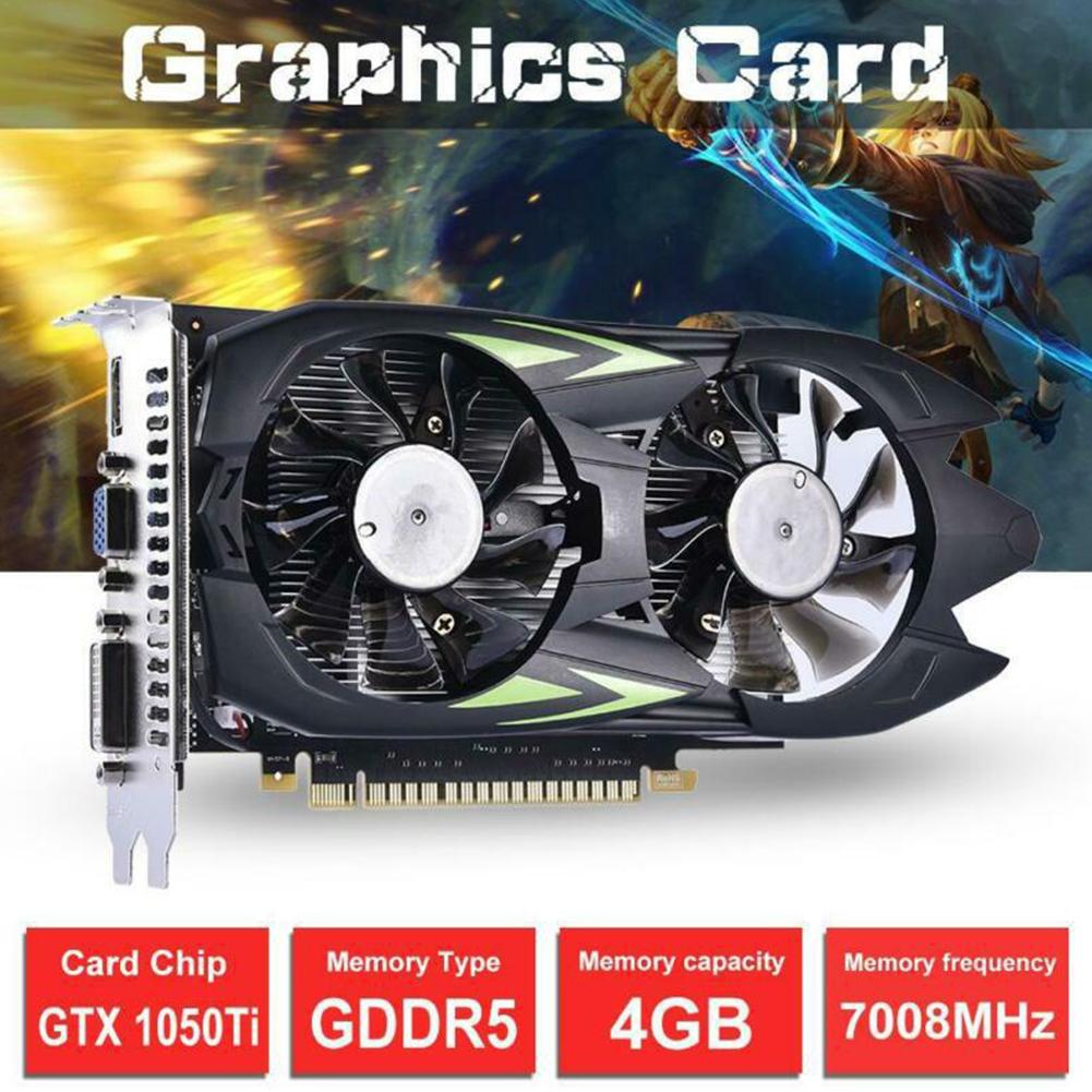 GTX1050Ti 4G DDR5 Desktop Computer Graphics Card Independent High Definition Game black