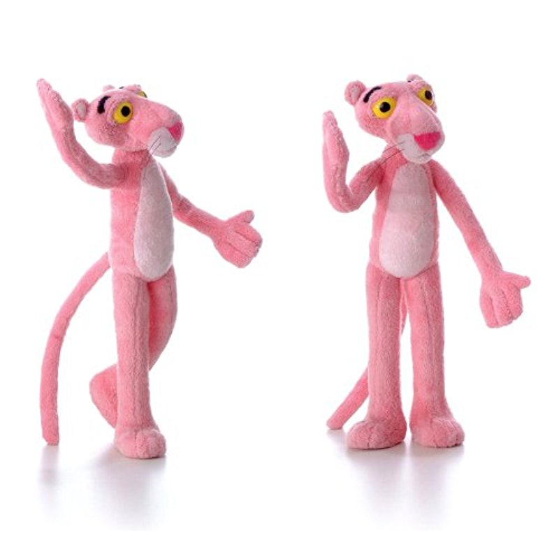 [US Direct] Plush Bendable Pink Panther 12`
