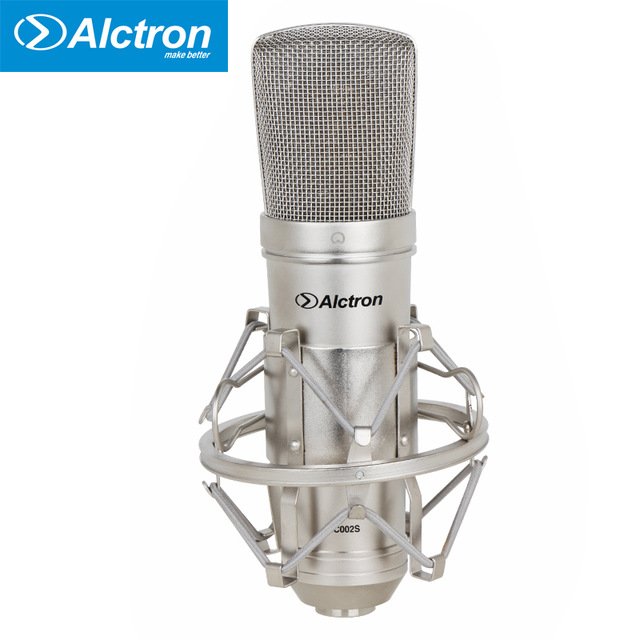 MC002S professional FET condenser microphone used for recording, broadcasting and other stage application Silver