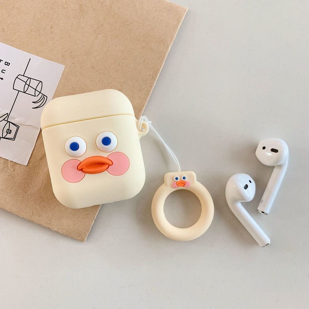 Cute Earphone Case for Airpods Light Yellow