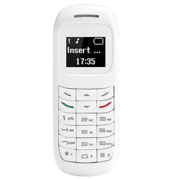 L8star 2G GSM Bm70 Mini Mobile Phone Wireless Bluetooth Earphone Cellphone Stereo Headset Unlocked GTSTAR Small Phone white