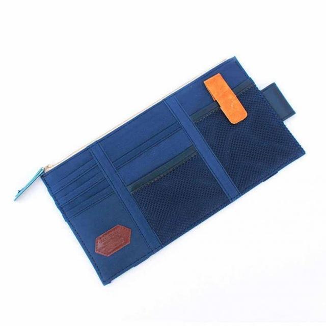 Multi-function Sun Visor Car Storage Holder Vehicle Pocket Organizer Sunshade blue