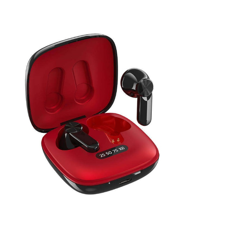 Xg31 Wireless Bluetooth  Headset With 300mah Charging Case Long Battery Life Earphones red