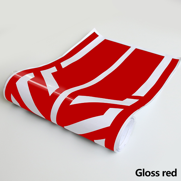 Style Side Stripes Decal Stickers for Mercedes Benz W176 A Class A45 AMG  red