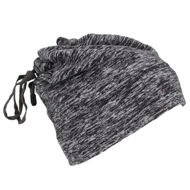 Warmful Scarf Hat Dual Purpose Autumn Winter Scarf Collar O Ring Neckerchief Warm Neck Fleece Thickened Neck Scarf YL-WB-01 hemp gray_One size