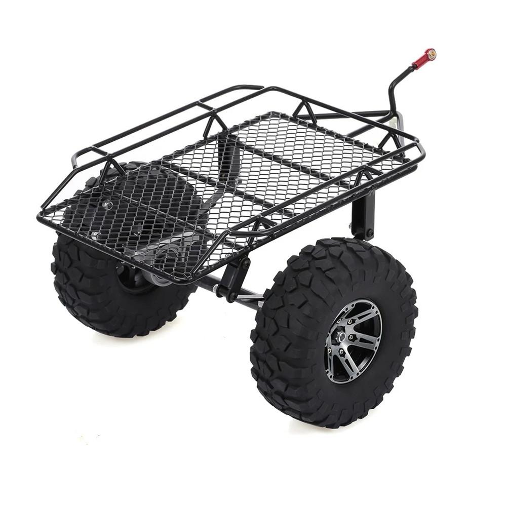 1/10 RC Car Parts Crawler Metal Drag Chain Leaf Spring Hitch Mount Tow Trailer  black