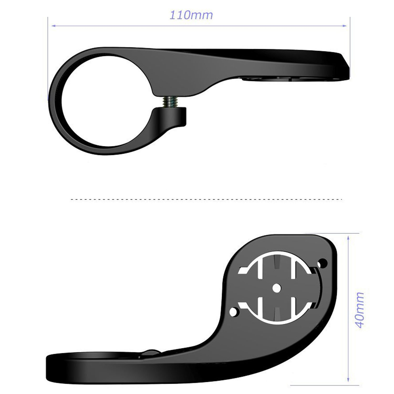 Bicycle speed meter extension bracket Road Mountain Compatible Cat Eye Speed Meter Bracket Road long _Free size