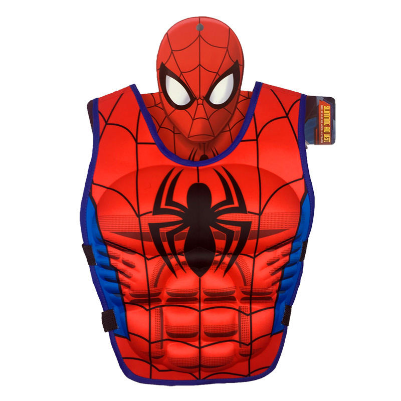Kids Life Jacket Floating Vest Children Boy Swimsuit Sunscreen Floating Power swimming pool accessories ring Drifting Boating Spiderman-M