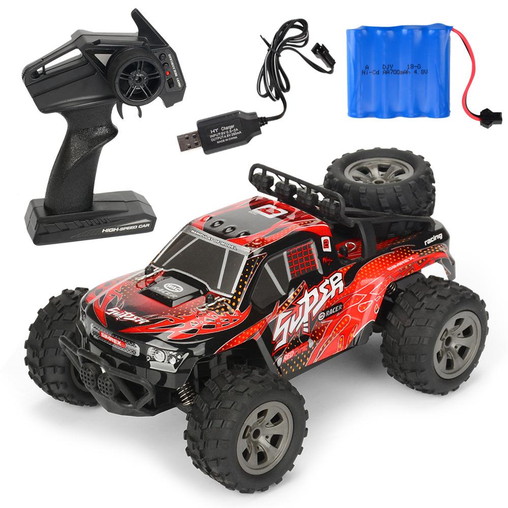 MGRC Mini RC Car 1/18 2.4G 4CH 2WD High Speed 20KM/h Brush Crawler Remote Controller Car Kids Toys red