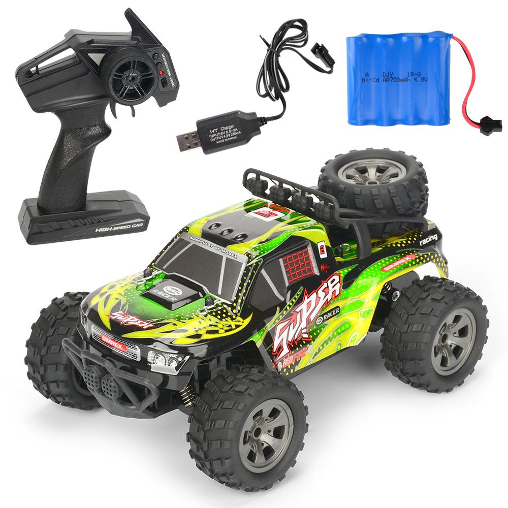 MGRC Mini RC Car 1/18 2.4G 4CH 2WD High Speed 20KM/h Brush Crawler Remote Controller Car Kids Toys green