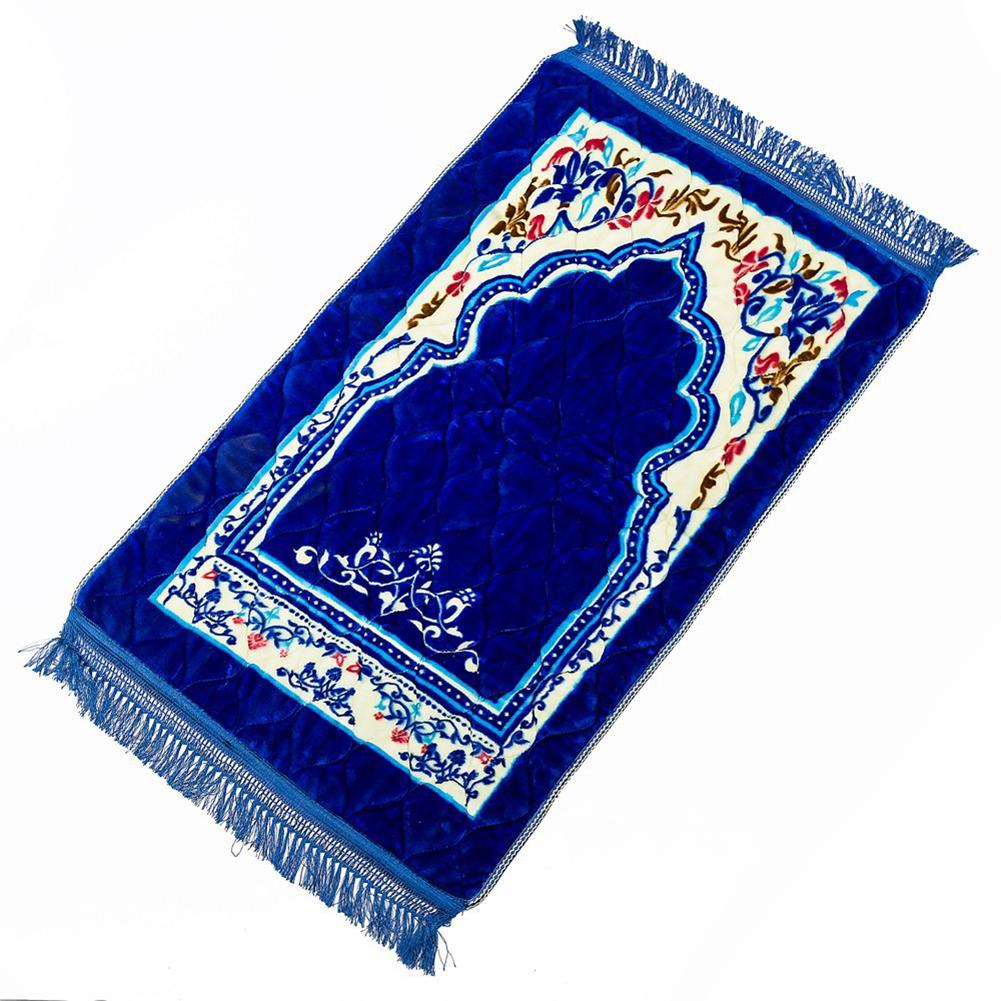 Fleece Muslim Prayer Mat Lightweight Thin Carpet Islam Eid Ramadan Gift Baolan_75*120cm