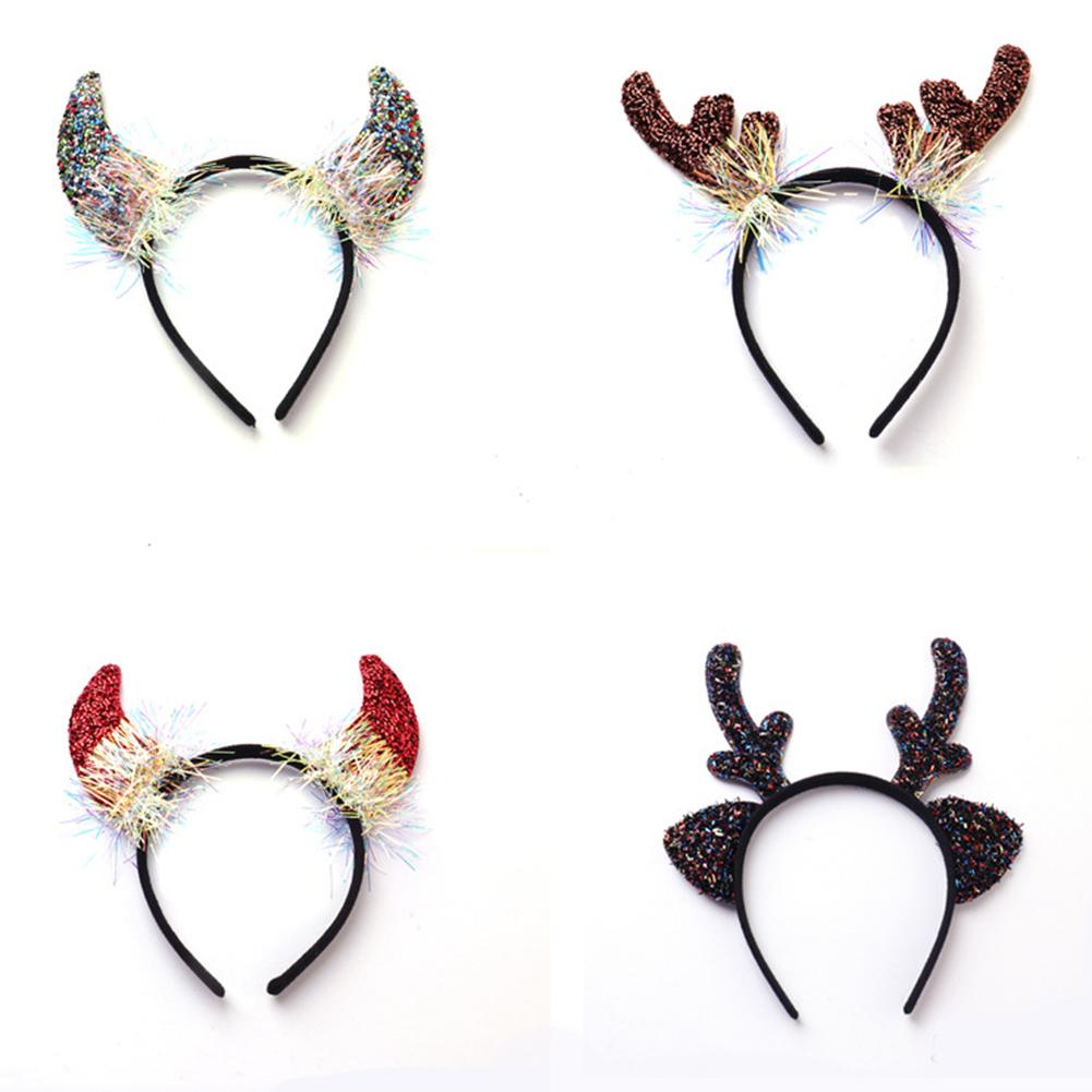 Deer Antlers/Horn Shape Headband Hair Hoop for Halloween Party Wear Mixed