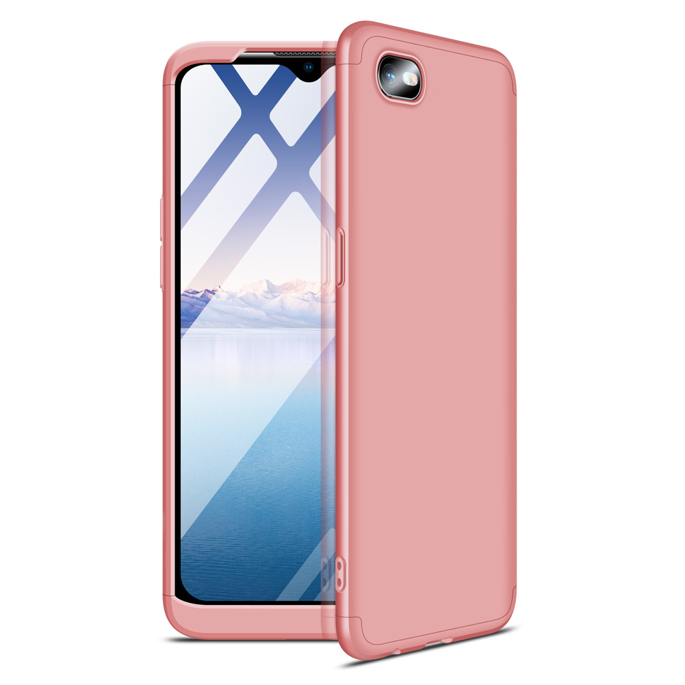 For OPPO Realme C2 Ultra Slim PC Back Cover Non-slip Shockproof 360 Degree Full Protective Case Rose gold