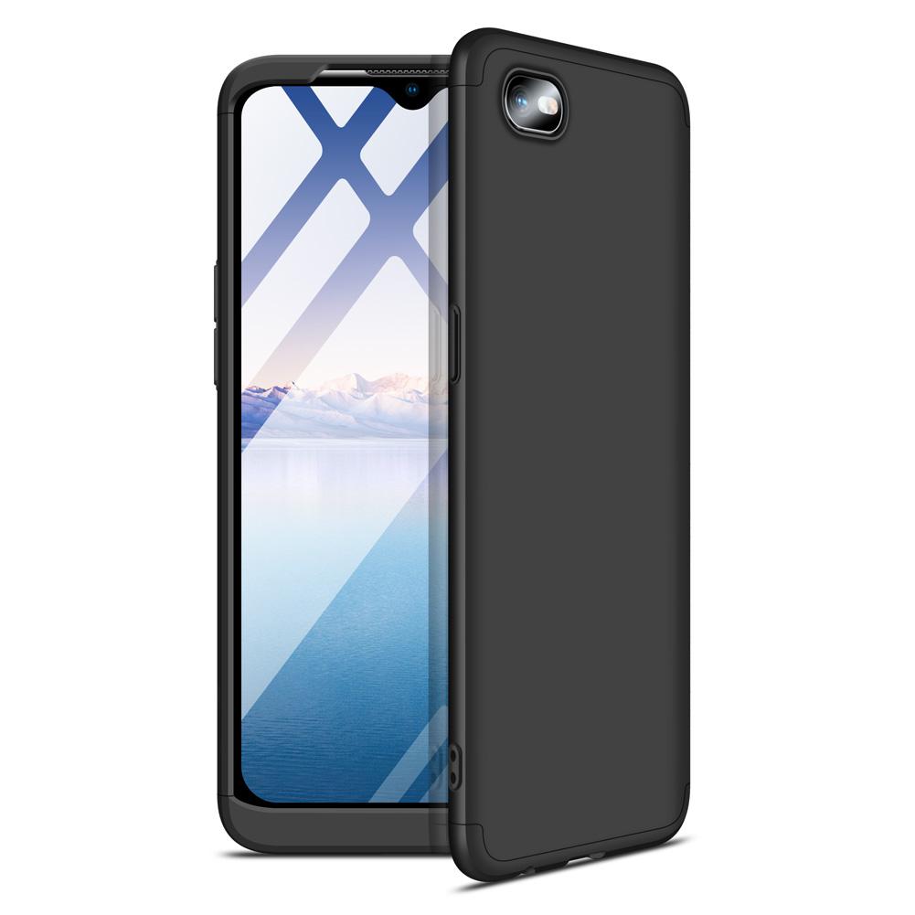 For OPPO Realme C2 Ultra Slim PC Back Cover Non-slip Shockproof 360 Degree Full Protective Case black